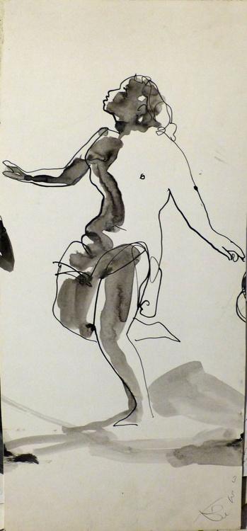 Dancing Nude, 20x45 cm - Image 0