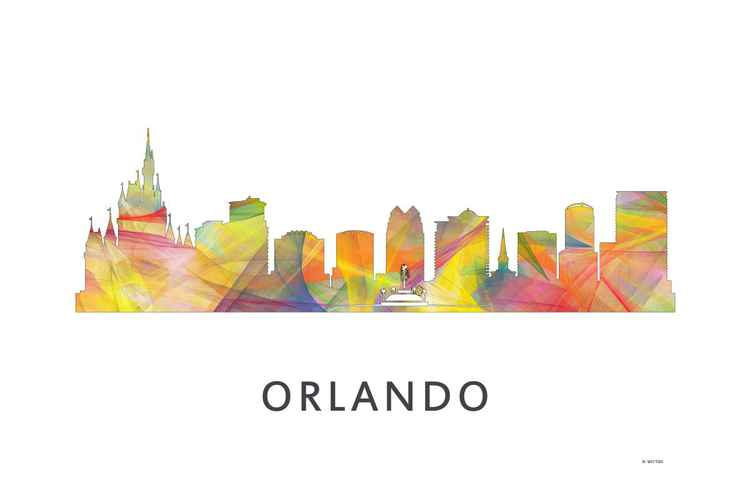 Orlando Florida Skyline WB1