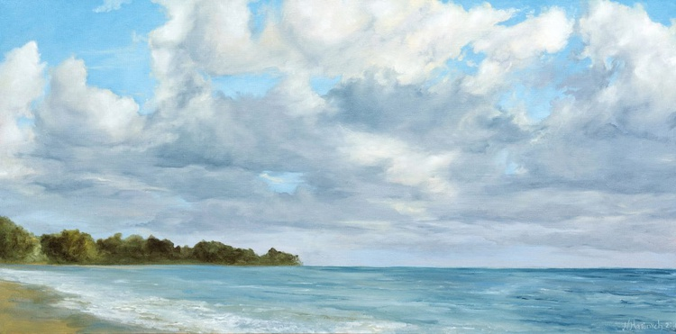 Original artwork Paradise, Sea, Seascape, Sunny day - Image 0