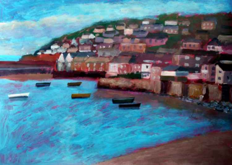 Mousehole, early morning. -
