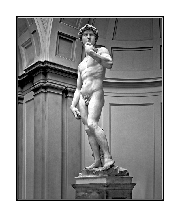 David is a masterpiece of Renaissance sculpture created between 1501 and 1504 by Michelangelo - Image 0