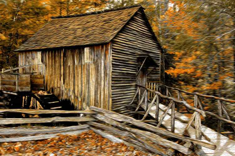 Rustic Wheel House -