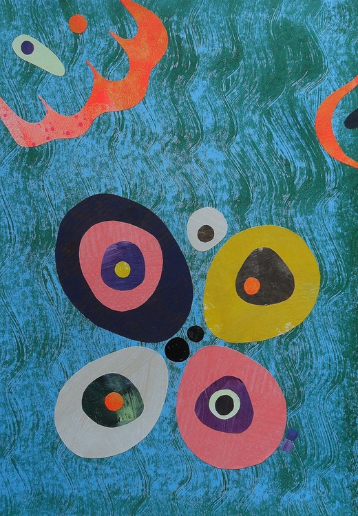 Pebbles In Rhythm On A Blue Green Stream - Image 0