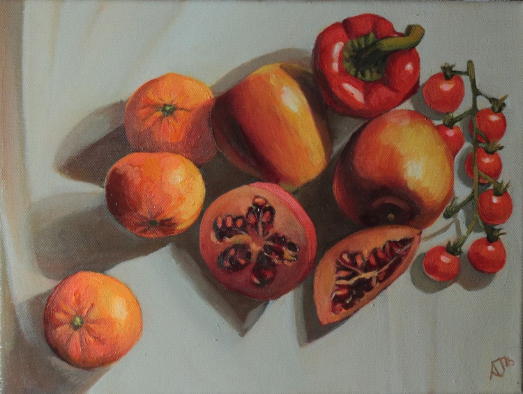 A lot of Red - Vegetable and Fruit Still Life - Image 0