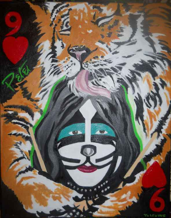 Peter Criss original 9 of hearts -