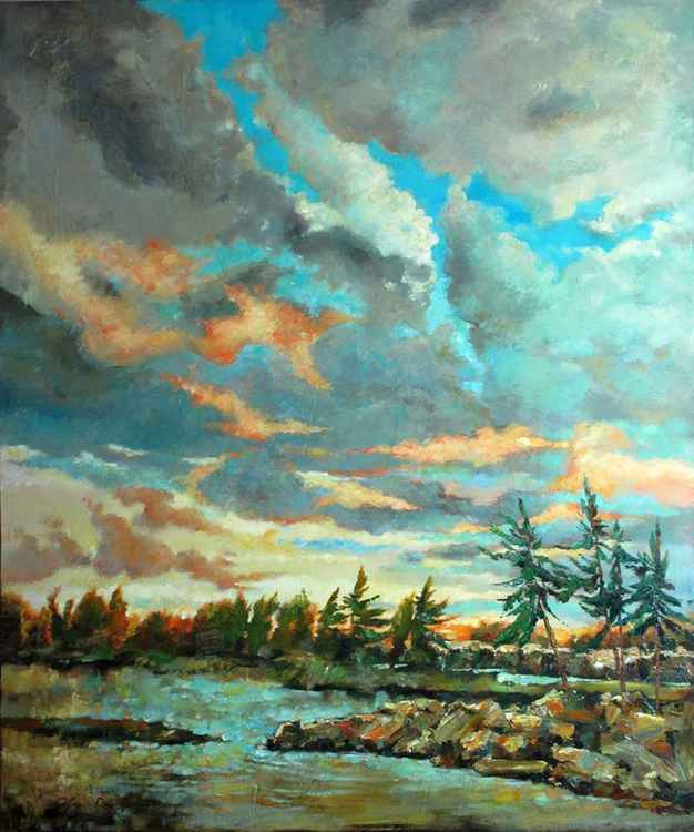 LANDSCAPE with PINES -