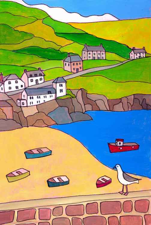 Harbour view, Port Isaac. -