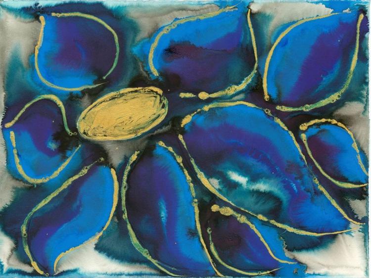 Polypetalous 9 - Blue Clematis - Image 0