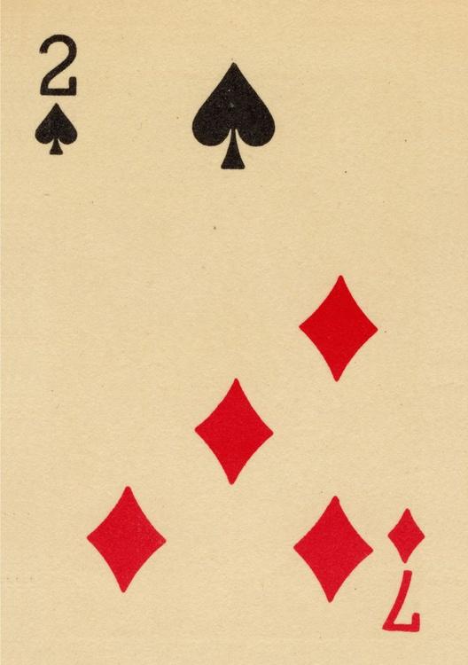 2 Spades/7 Diamonds - Trick Playing Card - Image 0