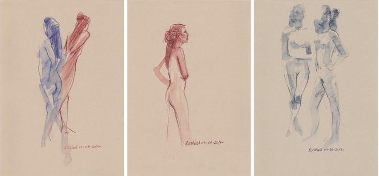 Standing nudes (set of 3) - Image 0