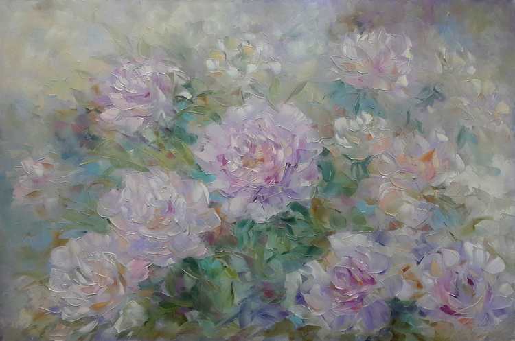 painting *Очарование розовых пионов*Oil on canvas 90х60 cm - Image 0