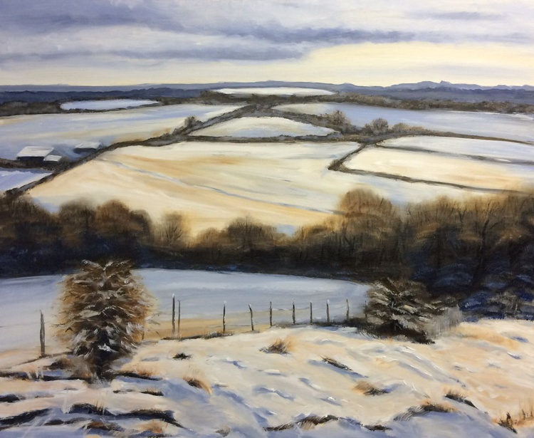 Morning snow Plumpton 1 - Image 0