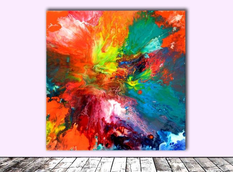Blink of an Eye - Abstract Painting - Ready to Hang, Hotel and Restaurant Wall Decoration - Image 0