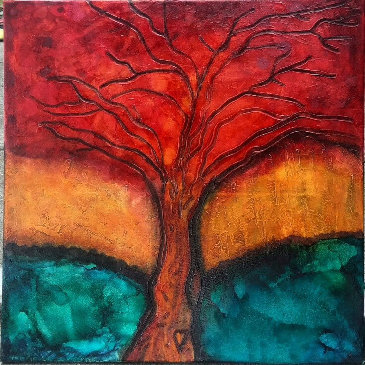 Autumn Love Original Abstract Painting - Image 0