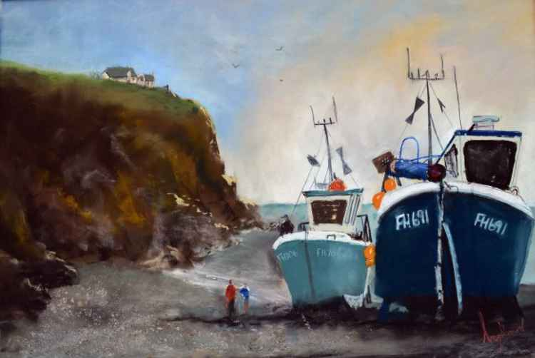 Cadgewith Harbour - Original Pastel Painting