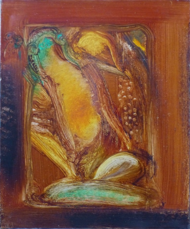 A Frog, oil on canvas 54x65 cm - Image 0