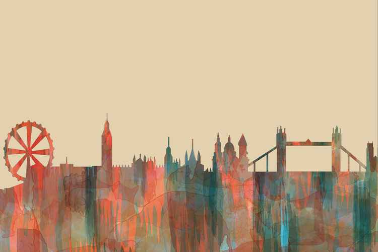 London England Skyline - Navaho -