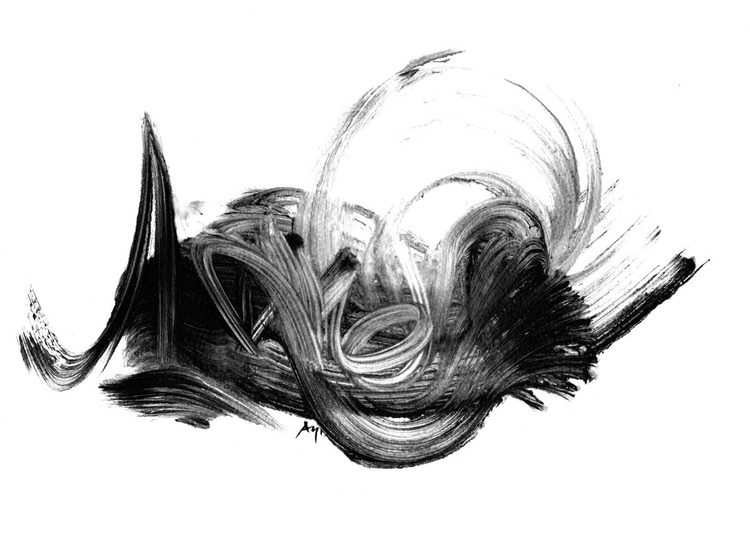Black and White Abstract 131205 - Image 0