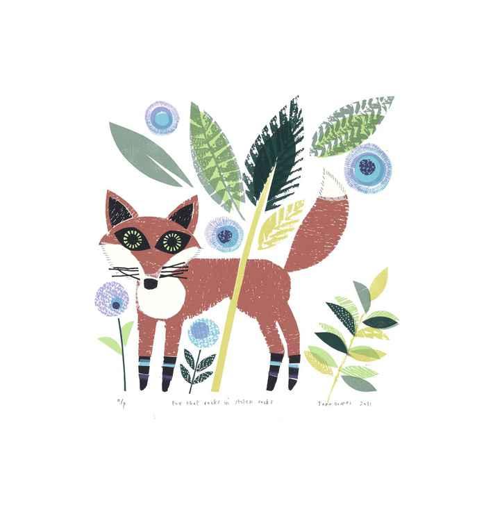 Fox that rocks in stolen socks -