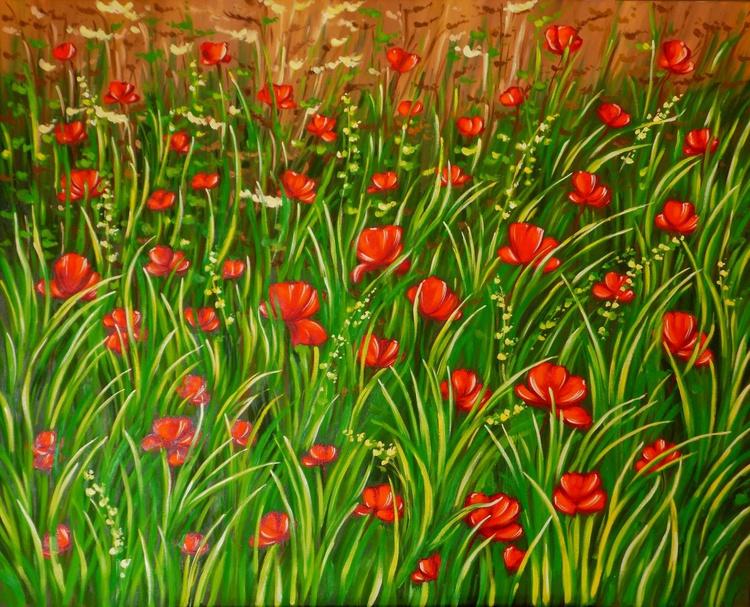 Poppies 92x73 cm (36.2x28.7 inch) - Image 0
