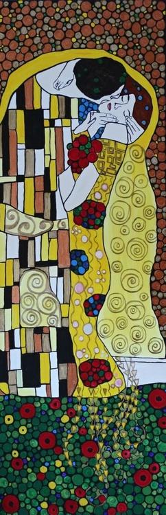 The Kiss, inspired art by Gustav Klimt - Image 0