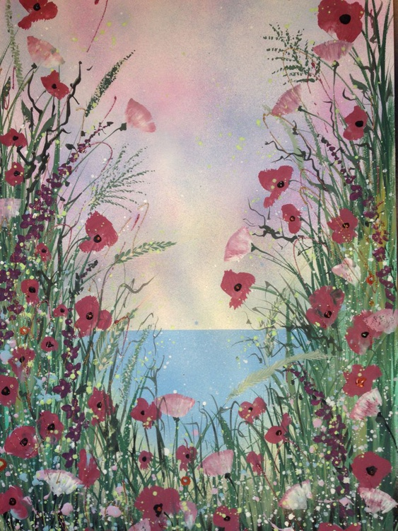 Pink poppies by the sea - Image 0