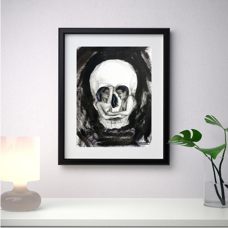 Optical Illusion Skull Portrait - Image 0