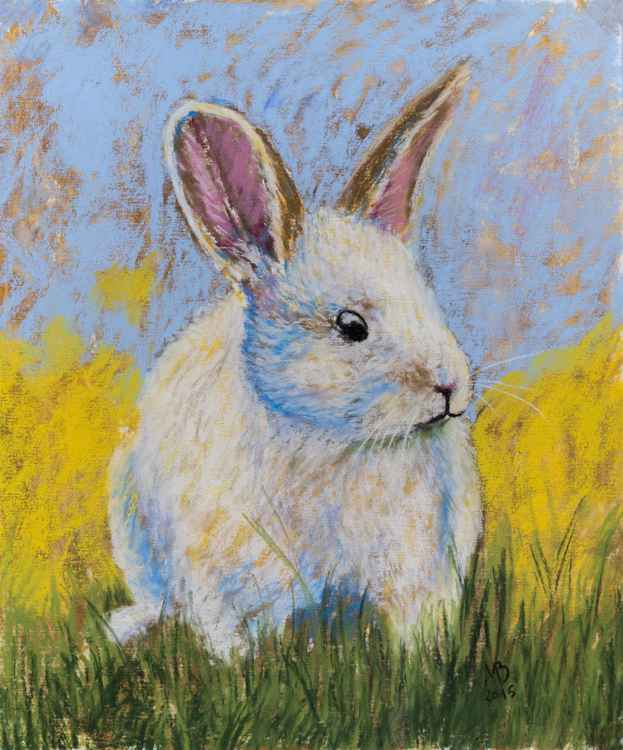 "Original pastel drawing ""Rabbit"" -"