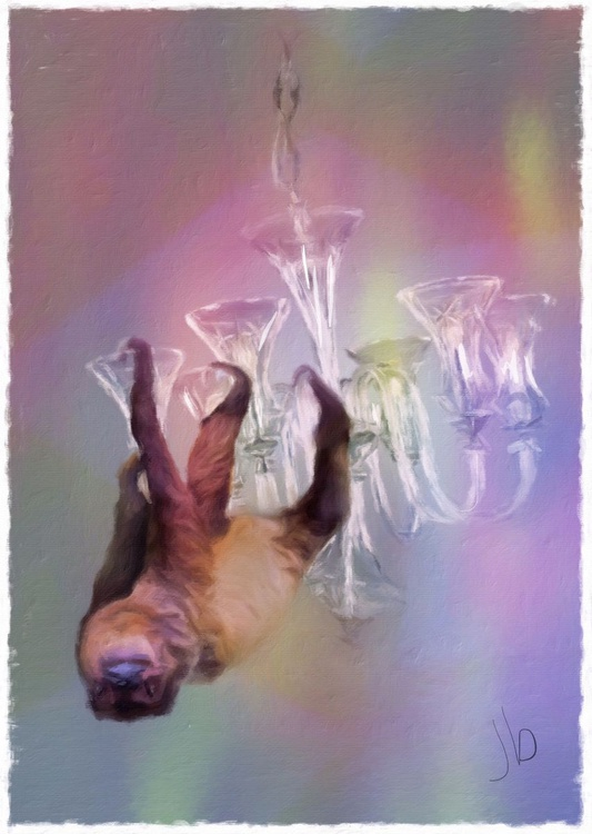 Sloth on a Chandelier - Image 0