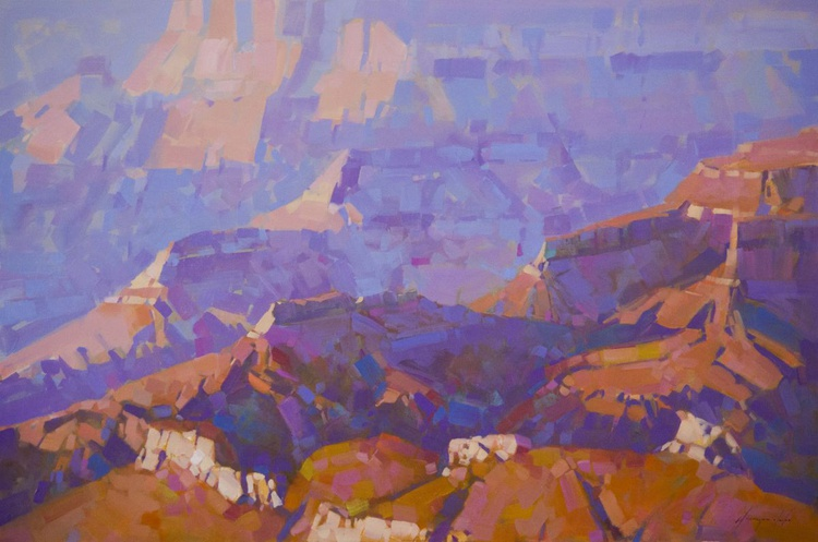Grand Canyon National Park Handmade oil painting One of a kind Signed Large Size Painting - Image 0