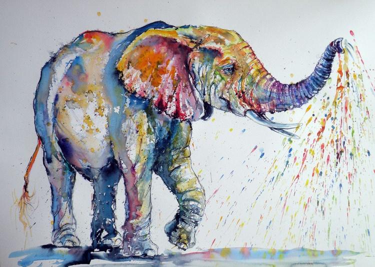 Playing colorful elephant - Image 0