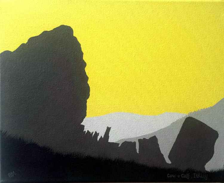 Cow & Calf rocks, Ilkley painting -