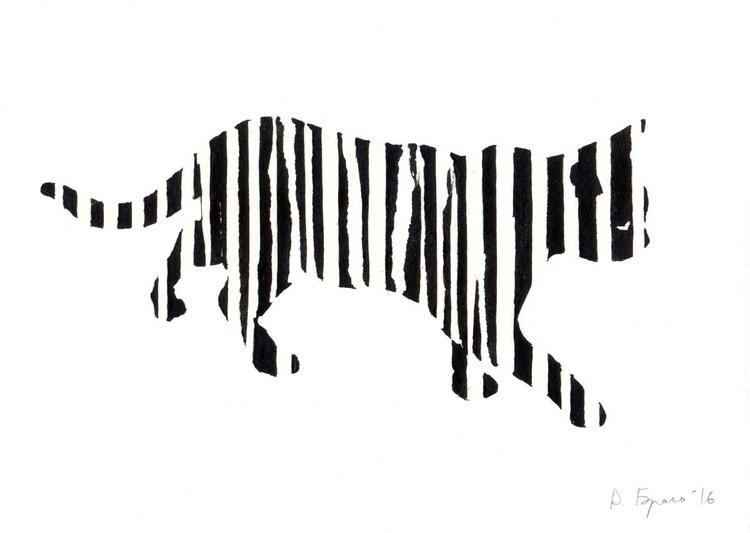Zebracat (glow in the dark) - Image 0