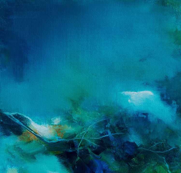 Abstract - Underwater - small size acrylic on canvas 20X20cm -