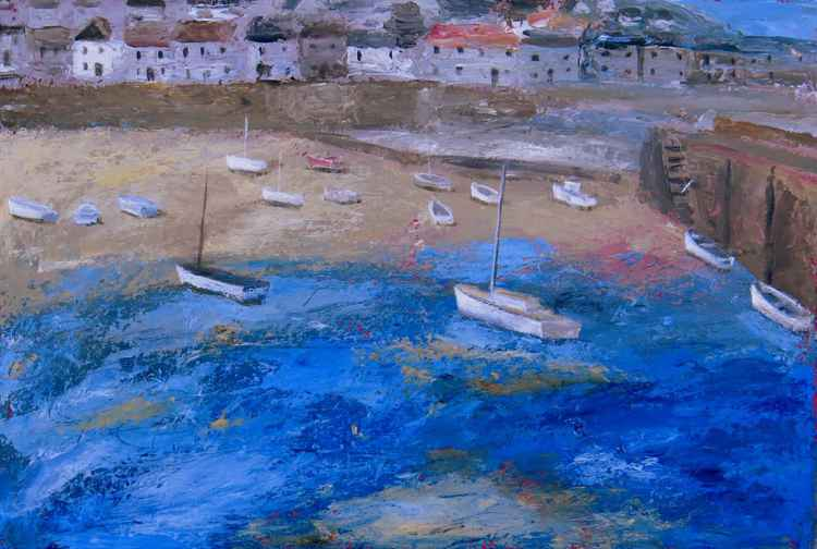 Mousehole harbour. -