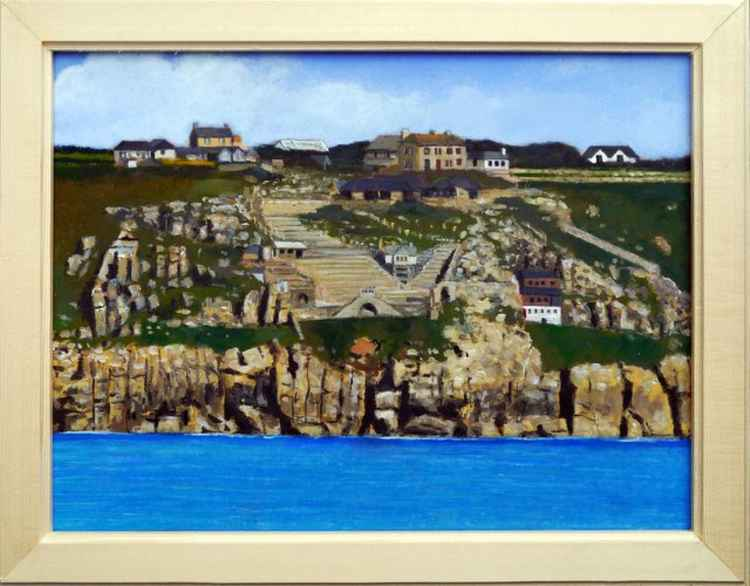 The Minack Theatre from the sea. -