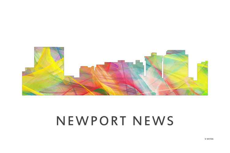 Newport News Virginia Skyline WB1 -