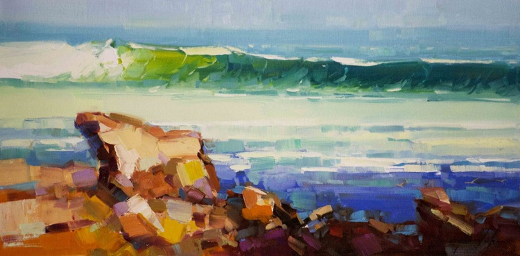 West Coast Highway Oil Painting on Canvas One of a Kind - Image 0