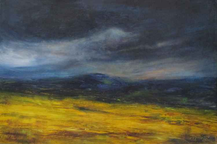 fields of gold 76cm w 50cm h -