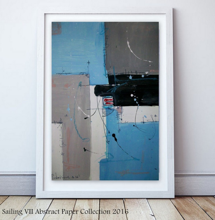 Sailing VII , Abstract paper collection - Image 0