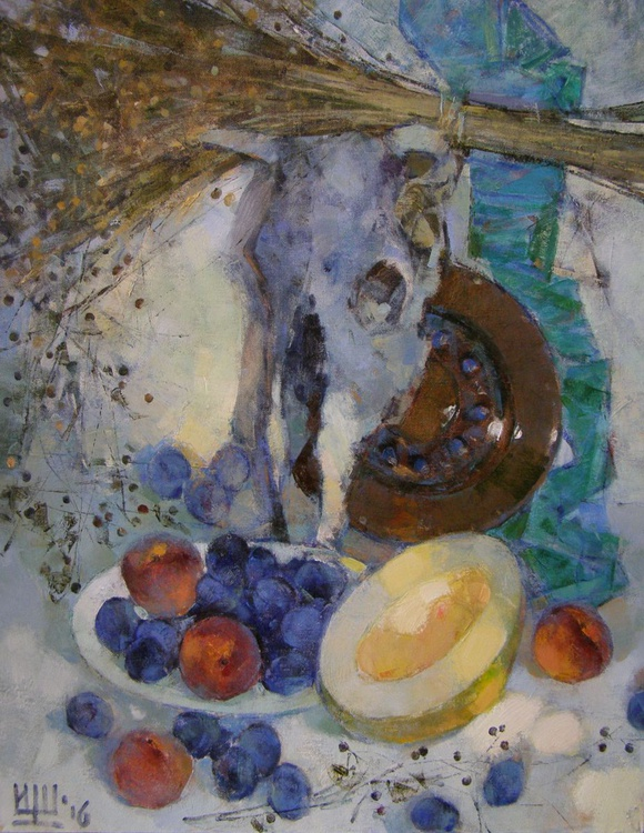 Still life with plums. - Image 0