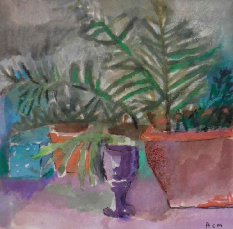 Purple Goblet and Fern