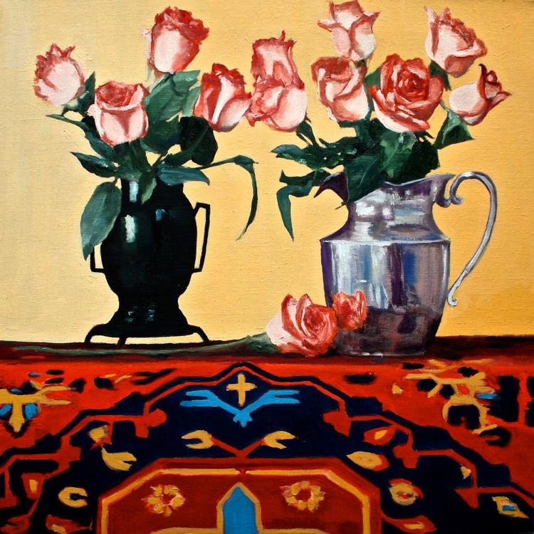 Supermarket Roses & Sarah's Persian Rug - Image 0