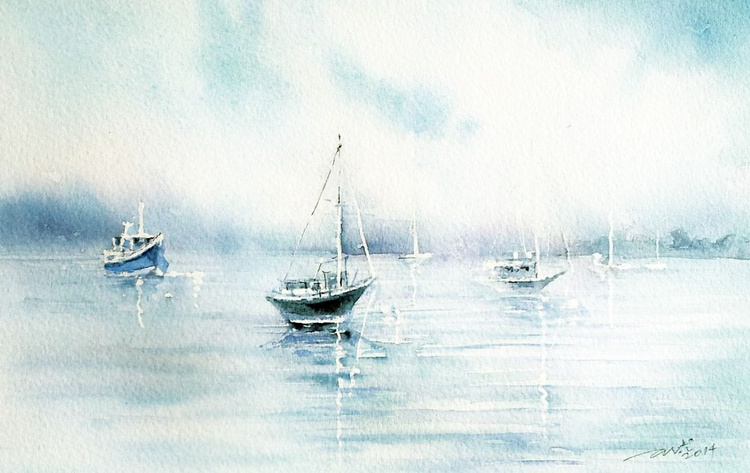 Boats on a Grey Day - Image 0