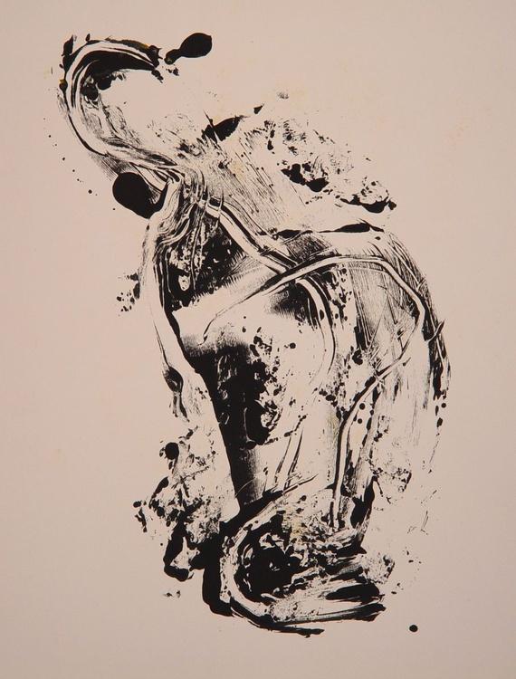 Monotype/ monoprint #3, 65x50 cm - Image 0