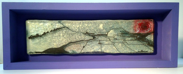 Bronze cast glass - 'Welsh Hills 5' - Image 0