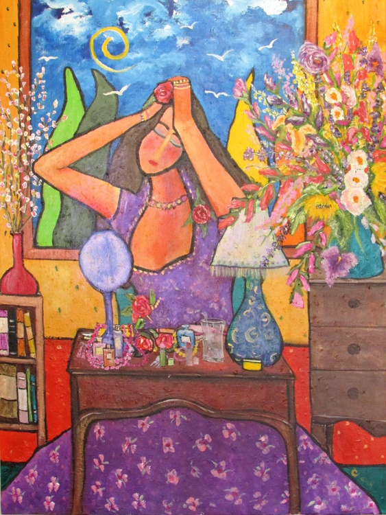 Woman at Dressing Table - Image 0