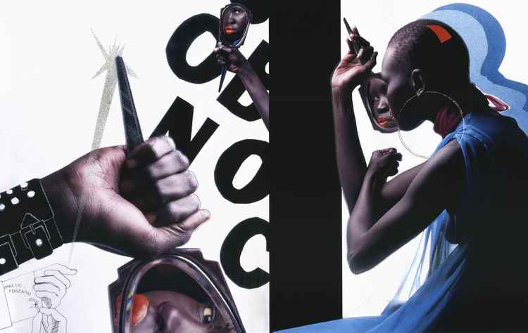 'Conversation piece 1'  Alek Wek Dazed and Confused magazine 2000