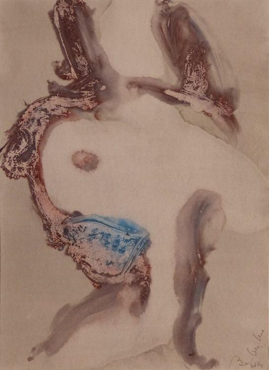 Prolegomena, Acrylic on paper #50, 29x42 cm - Image 0