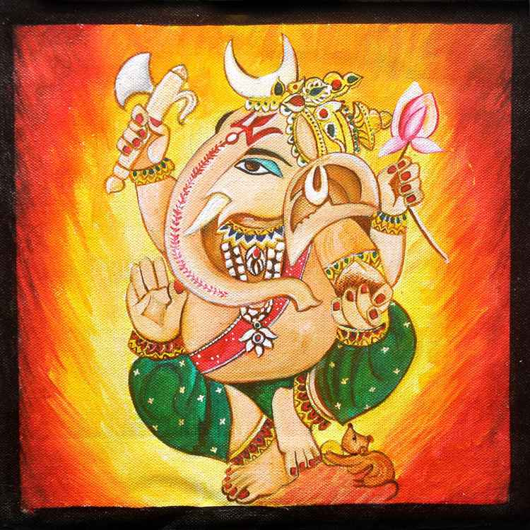 Lord Ganpati- Original Painting -